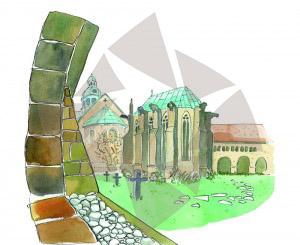 Carte postale - Cloître de la cathédrale d'Hildesheim