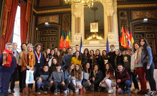 Accueil de l'Ikastola Olabide de Vitoria Gasteiz à la Mairie d'Angoulême