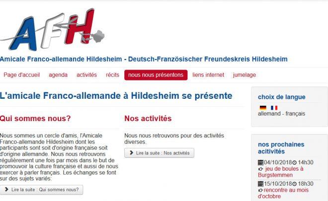 L'Amicale franco-allemande de Hildesheim