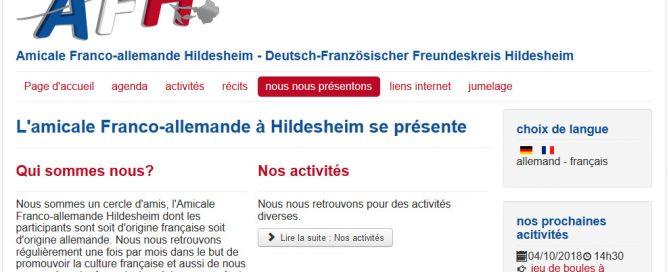 Le site de l'amitié franco-allemande à Hildesheim