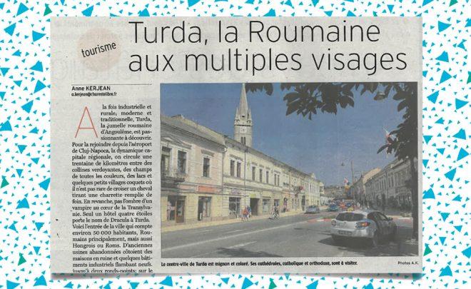 Turda à l'honneur dans la Charente Libre
