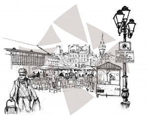 Angoulême - Les Halles - Place du marché